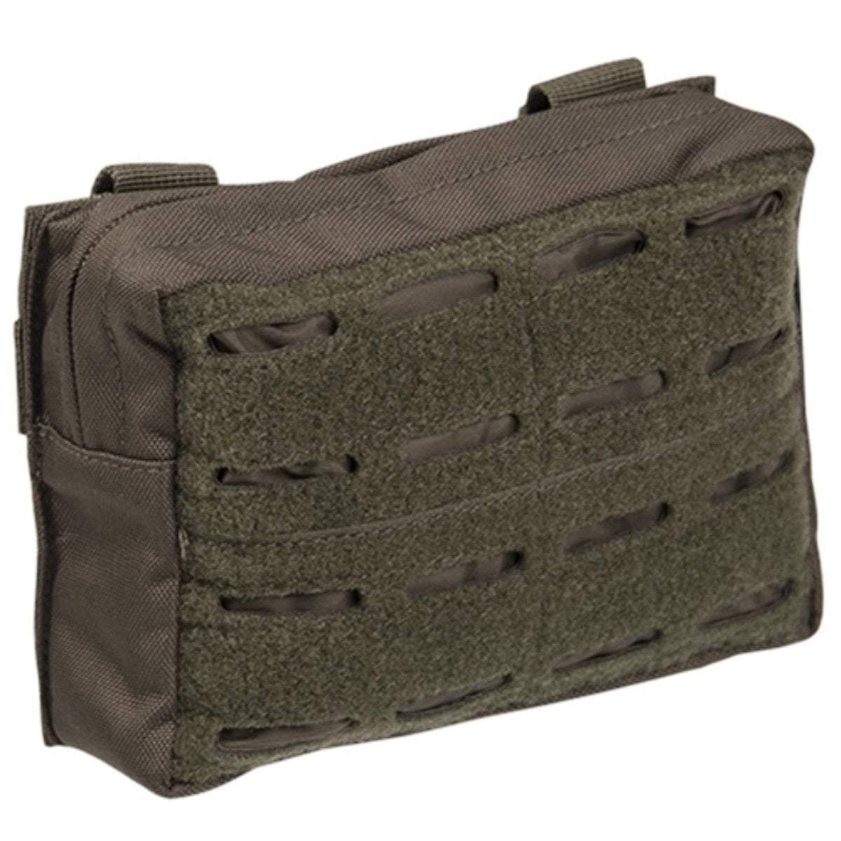 Mil-Tec Small Laser Cut MOLLE Utility Pouch Green | UKMC Pro
