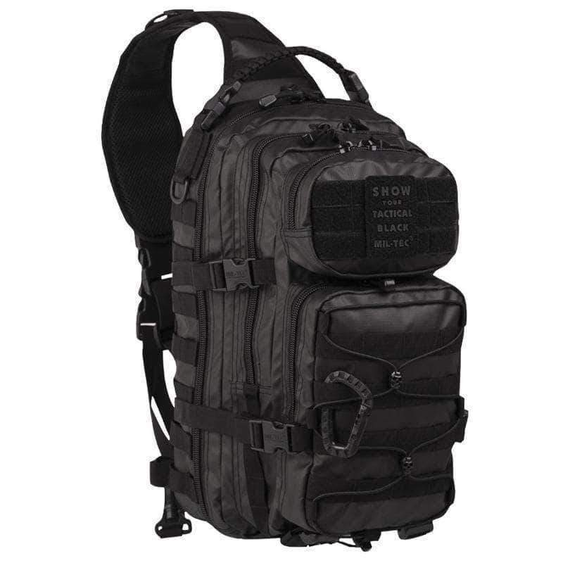 Mil-Tec Tactical Black One Strap Assault Pack Large | UKMCPro
