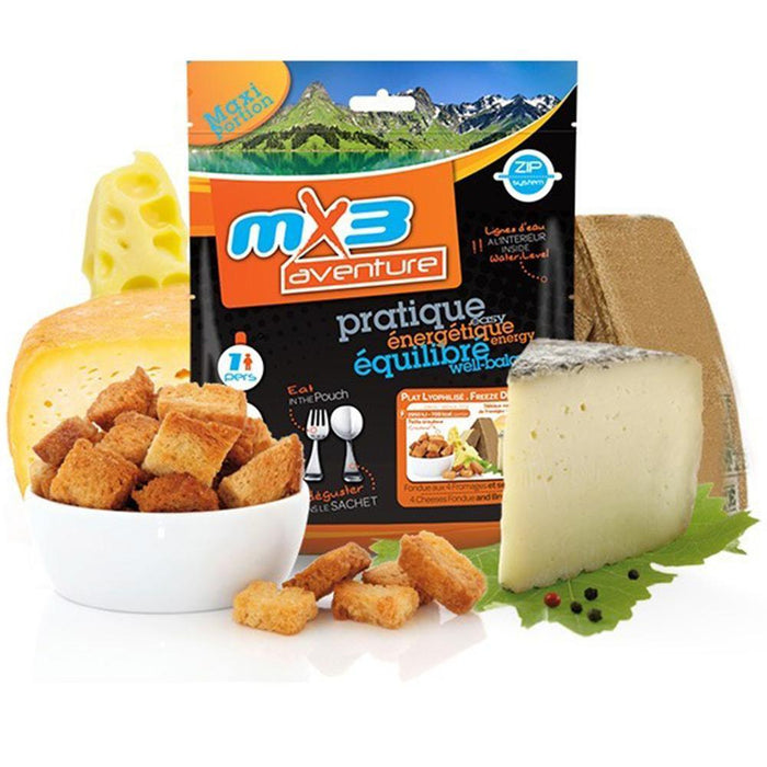 MX3 Adventure 4 Cheese Fondue & Crutons Freeze Dry Meal Pouch | UKMCPro