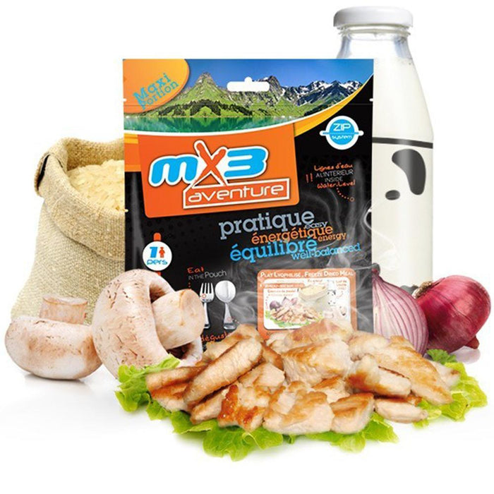 MX3 Adventure Chicken & Mushroom Risotto Freeze Dry Meal Pouch | UKMCPro