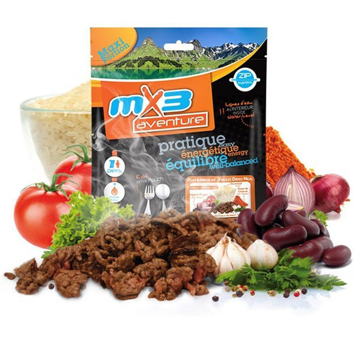 MX3 Adventure Chilli Con Carne Freeze Dry Meal Pouch | UKMCPro