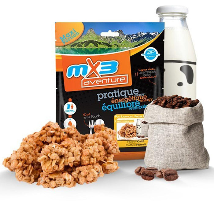 MX3 Adventure Coffee Muesli Freeze Dry Meal Pouch | UKMCPro