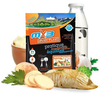 MX3 Adventure Mashed Potato & Fish Freeze Dry Meal Pouch | UKMCPro