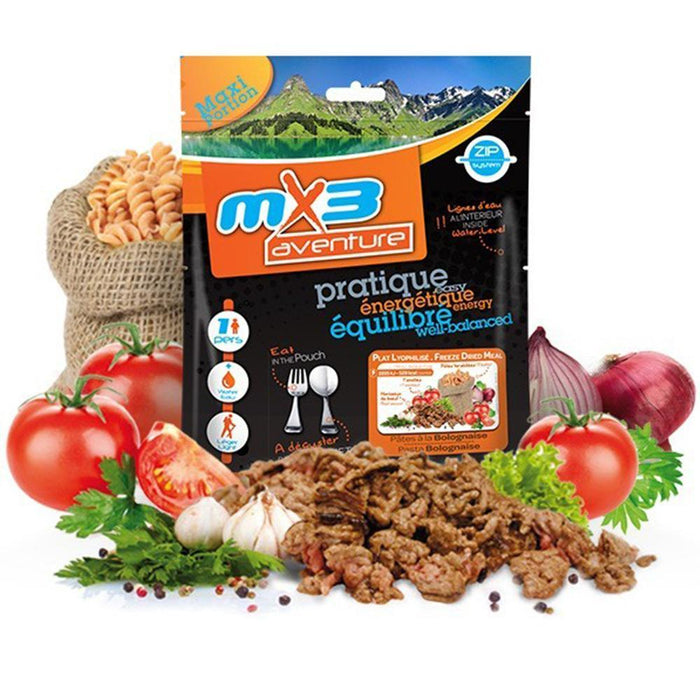 MX3 Adventure Pasta Bolognese Freeze Dry Meal Pouch | UKMCPro