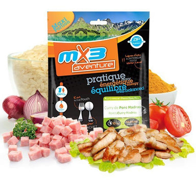 MX3 Adventure Pork Madras Curry Freeze Dry Meal Pouch | UKMCPro