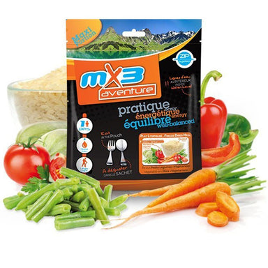 MX3 Adventure Vegetables & Rice Vegetarian Freeze Dry Meal Pouch | UKMCPro