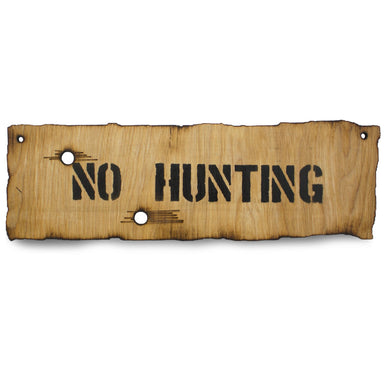 No Hunting Wooden Warning Sign | UKMCPro