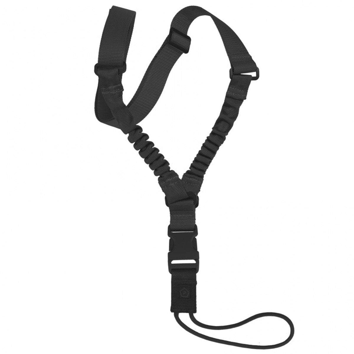 PENTAGON AMMA RIFLE SLING | 1-Point Bungee Weapon Sling | Black | UKMC Pro