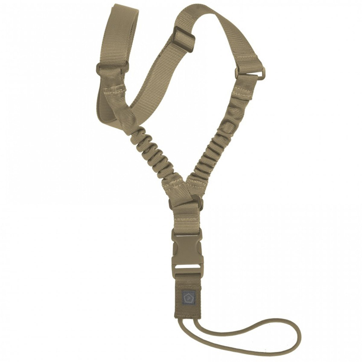 PENTAGON AMMA RIFLE SLING | 1-Point Bungee Weapon Sling | Coyote | UKMC Pro
