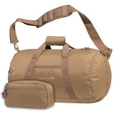 PENTAGON KANON DUFFLE | Men's Packable Lightweight Holdall, 45L | Coyote | UKMC Pro