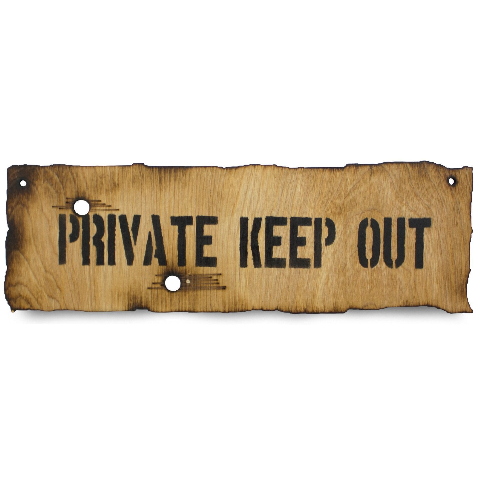Private Keep Out Wooden Warning Sign | UKMCPro