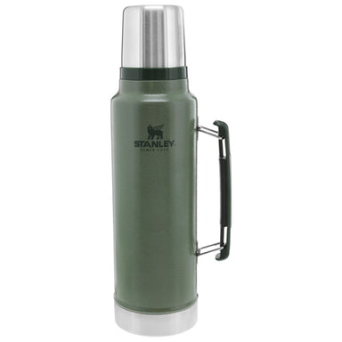 STANLEY CLASSIC VACUUM BOTTLE 1.4L | Thermal Flask, Hot/Cold Drinks | Hammertone Green | UKMC Pro