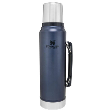 STANLEY CLASSIC VACUUM BOTTLE 1L | Thermal Flask, Hot/Cold Drinks | Nightfall | UKMC Pro