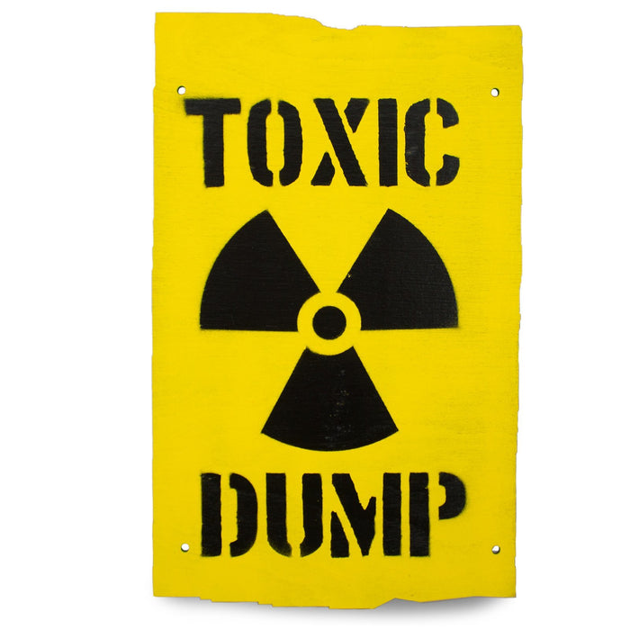 Toxic Dump Wooden Warning Sign | UKMCPro