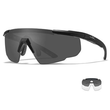 WX SABER ADVANCED | Wiley-X Glasses, Matte Black, Grey/Clear Lenses | UKMC Pro