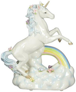 Cosmos Gifts 80118 Unicorn Over The Rainbow Ceramic Figurine, 8-1/8-Inch - Tucson Tiques