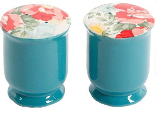 The Pioneer Woman Vintage Floral Ceramic Salt and Pepper Shaker Set