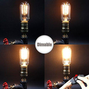 Vintage Desk Lamp,Dimmable Retro Industrial Desk Light Iron Pipe Table Lamp - Tucson Tiques
