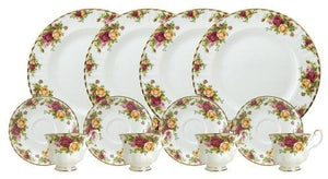 Royal Doulton-Royal Albert Old Country Roses 12-Piece Set, Service for 4 - Tucson Tiques