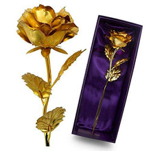 UniteStone Monther Day Gift 24K Gold Foil Artificial Rose Flower Birthday Gift Valentine's Day Gift Anniversary Gift - Tucson Tiques Collectibles