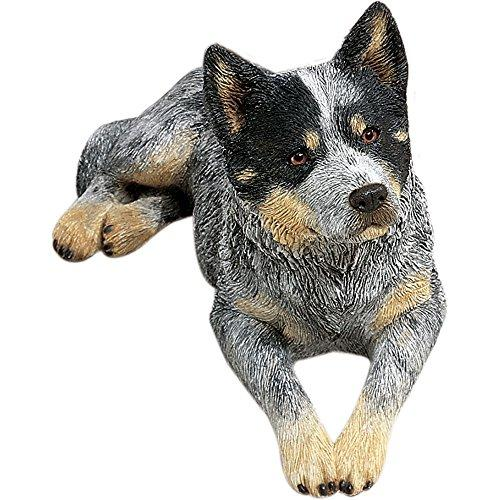 Sandicast Original Size Australian Cattle Dog Sculpture, Lying, Blue - Tucson Tiques Collectibles