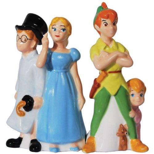 Westland Giftware Magnetic Ceramic Disney Peter Pan and Friends Salt and Pepper Shaker Set, 4.5-Inch - Tucson Tiques