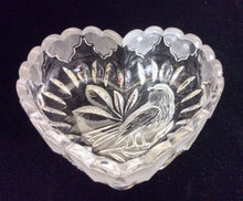Hofbauer Byrdes Lead Crystal Heart Shaped Dish - Tucson Tiques