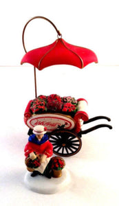 flower cart christmas figurine