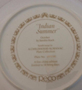 collectible childhood almanac plate