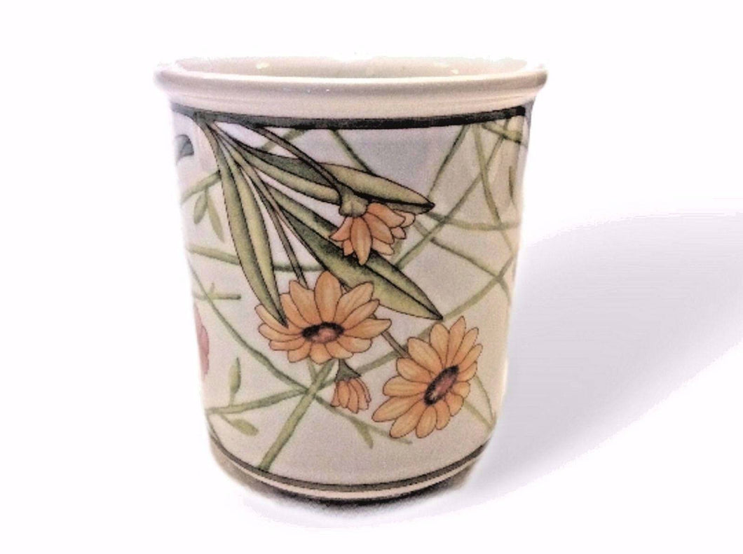 Dansk International Cafe Floral, Large Porcelain Coffee Mug - Tucson Tiques