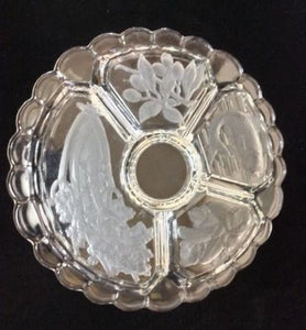 Large Glass Relish Serving Tray - Tucson Tiques
