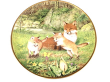 Woodland Animals Wall Plate Vixen and Kits - Tucson Tiques