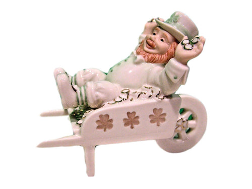 Lenox Irish Leprechaun Cart Full of Wishes St. Patrick's Day Gift - Tucson Tiques Collectibles