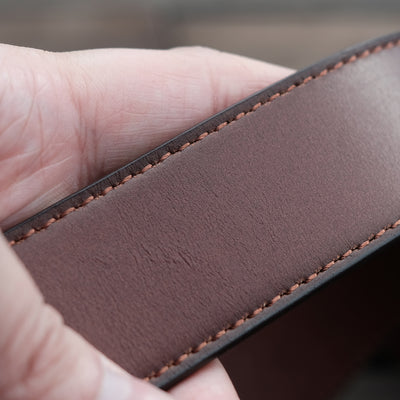 brown full grain leather belt