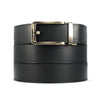 full grain leather belt with gold buckle