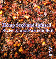 Hemp Seed and Infused Sweet Corn Particle Bait