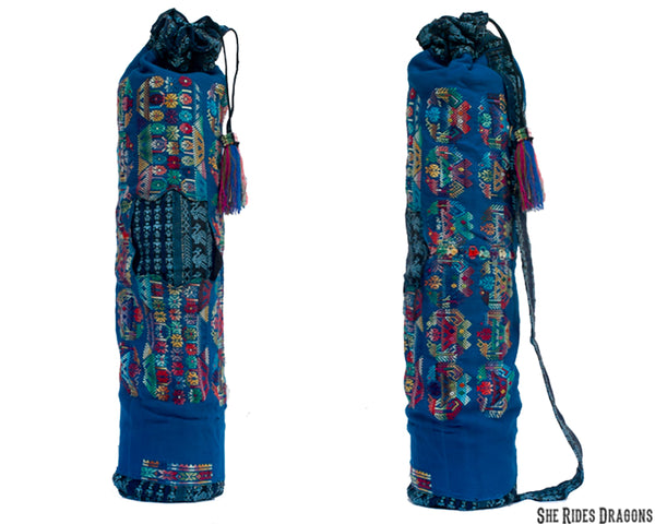 Blue Rainbow Yoga Mat Bag