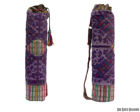 Purple Yoga Mat Bag