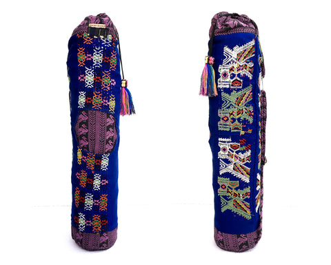 Navy Blue Yoga Mat Bag