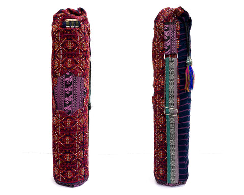 Red Brown Yoga Mat Bag