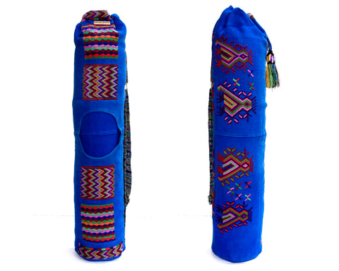 Blue Yoga Mat Bag