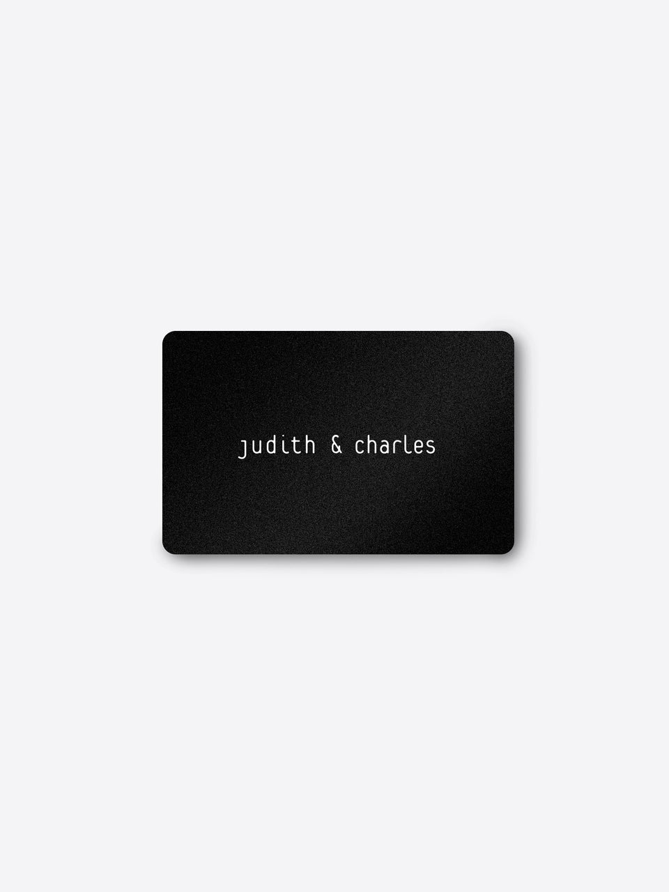 Gift Card - Judith & Charles