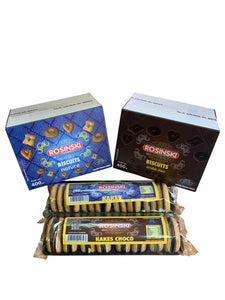 Colis  Biscuits ROSINSKI Sélection      (2 boites Biscuits Natures 400 grs + 2 Boites Biscuits Choco 400 grs + 1 Kakes Nature 250 grs + 1 Kakes Choco 350 grs)