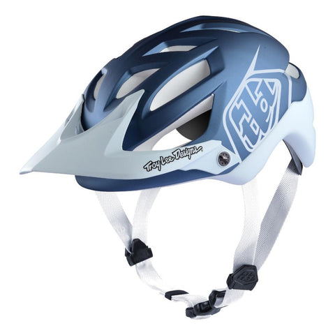 Troy Lee Designs A1 MIPS Helmet - Classic Blue/White
