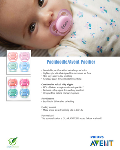 AVENT Personalized Pacifier (Coral) 0-6