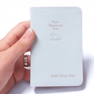 Personalized Baby Bible - White