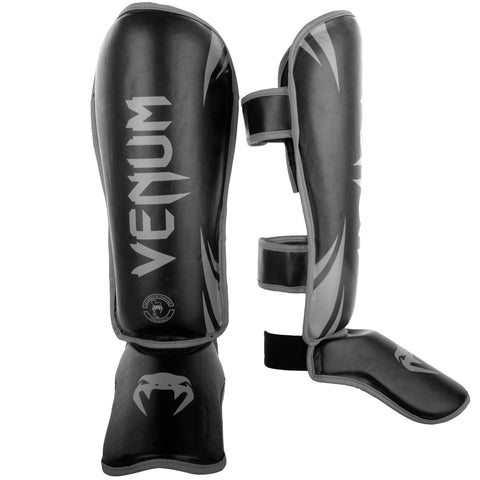 "Venum Shinguards Standup ""Challenger"" - Black/Gray"