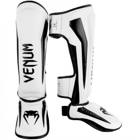 "Venum Shinguards ""Elite"" - White/Black"
