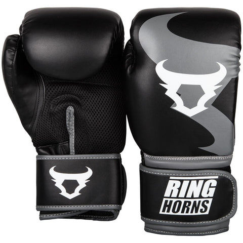 "Venum Boxing Gloves ""Ringhorns Charger"" - Black/Gray"