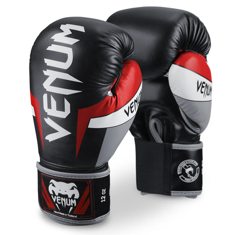 "Venum Boxing Gloves ""Elite"" - Black/Red"